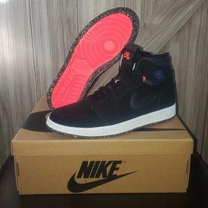 Jordan 1 High Zoom 'Court Purple' Shoes